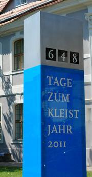 Countdown im Garten des Kleist-Museums